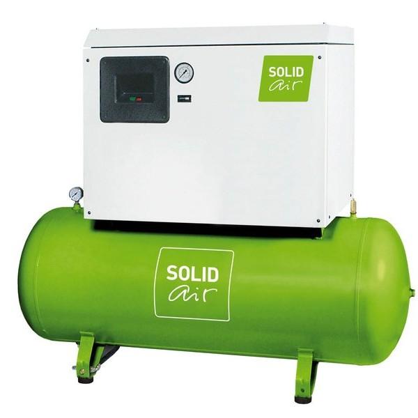 Поршневой компрессор SOLIDbase 470-10 / 680-10 silent, с впрыском масла, ресивер 270 л, производительность 380 – 540 м³/мин, мощность 3 – 4 кВт, давление 10 бар